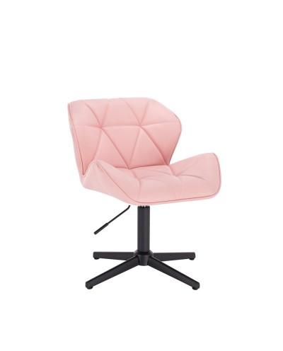 Krzesło z oparciem PETYR UNO różowe - czarny krzyżak