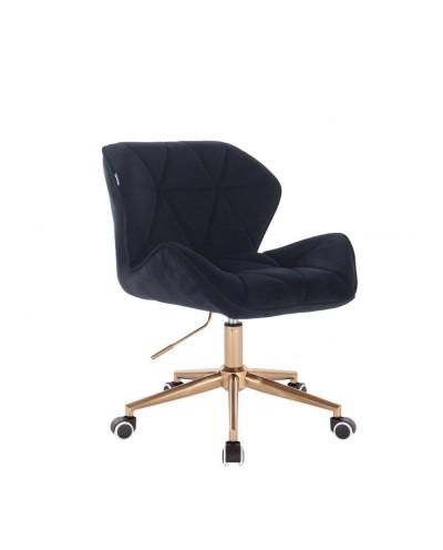 Krzesło skandynawskie PETYR czarne - kółka złote