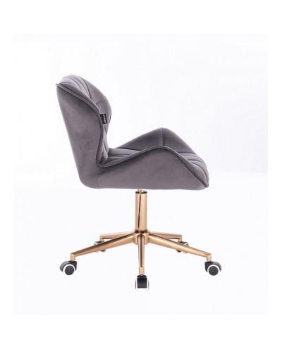 Krzesło skandynawskie PETYR grafitowe - kółka złote