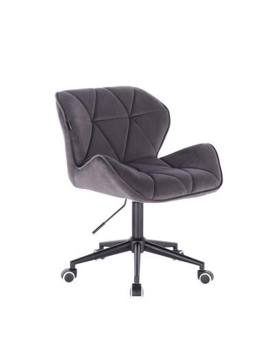 Krzesło obrotowe PETYR grafitowe - czarne kółka