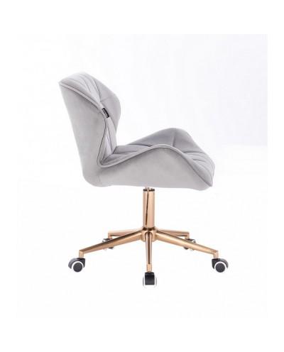 Krzesło skandynawskie PETYR stalowe - kółka złote