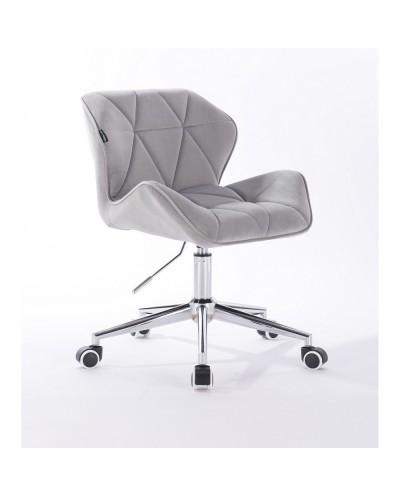 Krzesło tapicerowane PETYR stalowe - kółka chrom