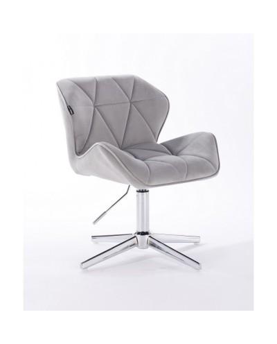 Krzesło PETYR na metalowej podstawie stalowe - krzyżak chrom