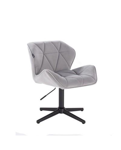 Krzesło stalowe PETYR na metalowej czarnej podstawie krzyżak