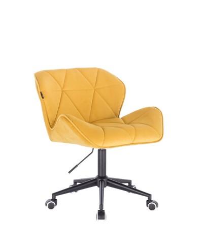 Krzesło obrotowe PETYR żółte - kółka czarne