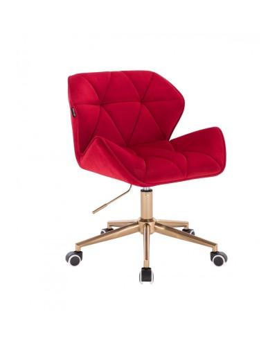 Krzesło skandynawskie PETYR czerwone - kółka złote