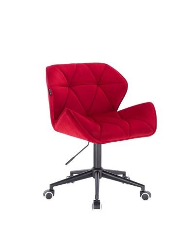 Krzesło obrotowe PETYR czerwone - kółka czarne