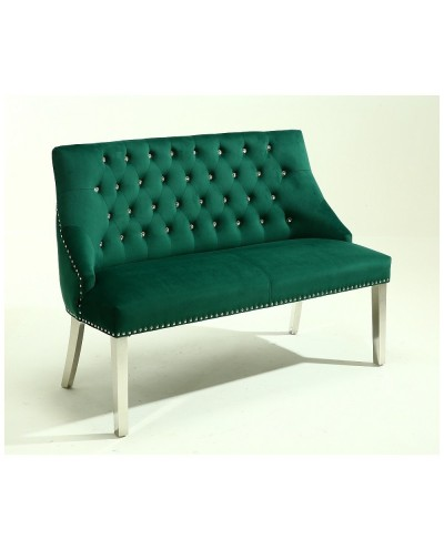 Sofa butelkowa zieleń NIKOS welurowa glamour