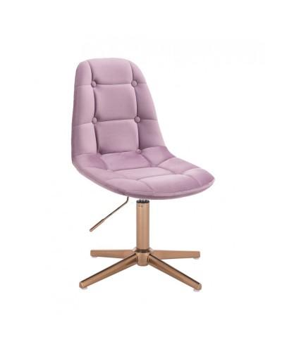 Krzesło wrzosowe POPPEA do toaletki - złoty krzyżak