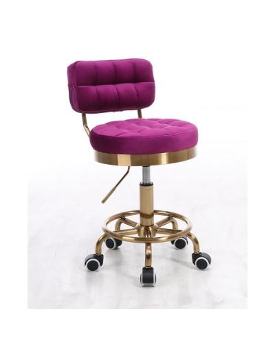 Krzesło do toaletki MAGNUS fuksja - złoty