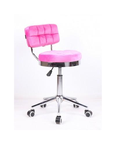 Krzesło do makijażu BAKO do toaletki - różowe (malinowe)