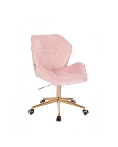 Kobiecy fotel biurowy CRONO pudrowy róż