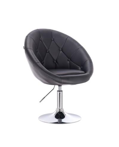 Fotel do toaletki BOL glamour czarny - dysk chromowany
