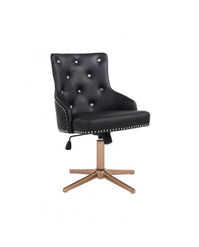 Elegancki czarny fotel CLARIS CRISTAL na prezent - złoty cross