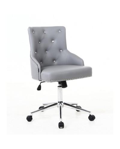 CLARIS CRISTAL fotel biurowy szary TILT kółka chromowane