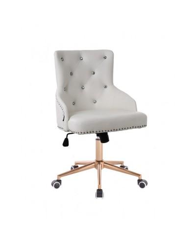 Oryginalny fotel biały / złoty CLARIS CRISTAL gaming