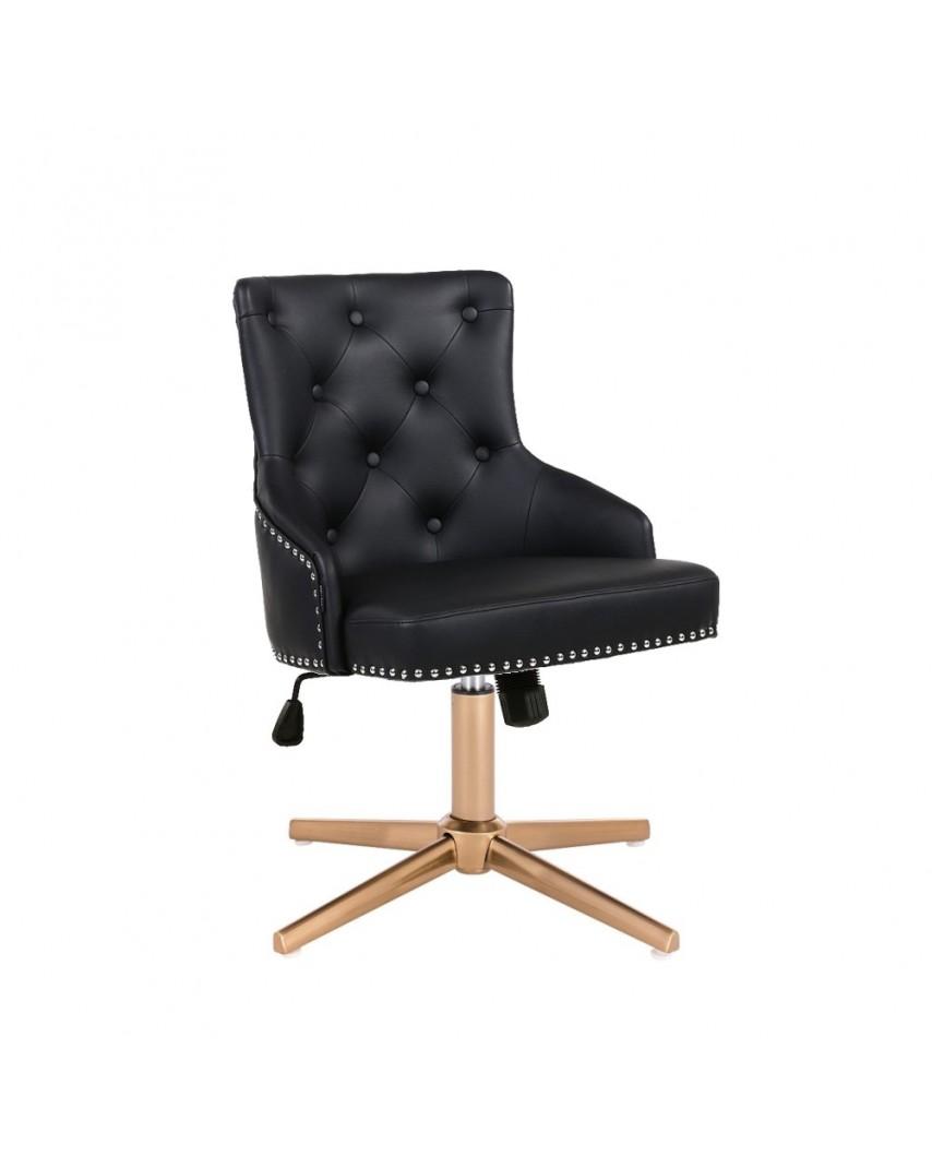 Unikalny fotel na prezent CLARIS czarny - złoty cross