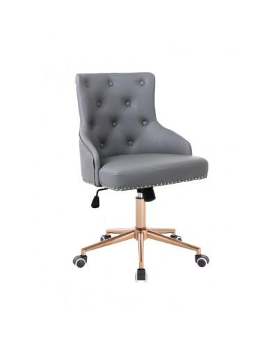 Oryginalny fotel gamingowy szary / złoty CLARIS - złote kółka