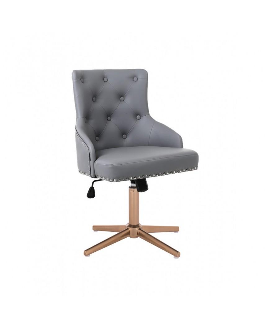 Unikalny fotel na prezent CLARIS szary - złoty cross