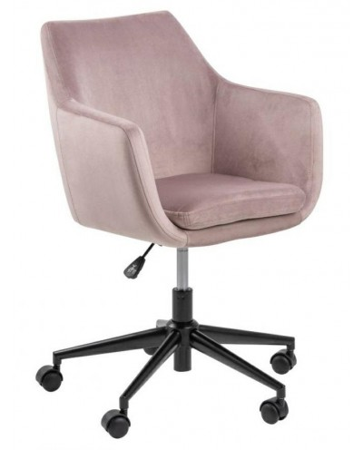 Fotel biurowy na kółkach Nora VIC różowy