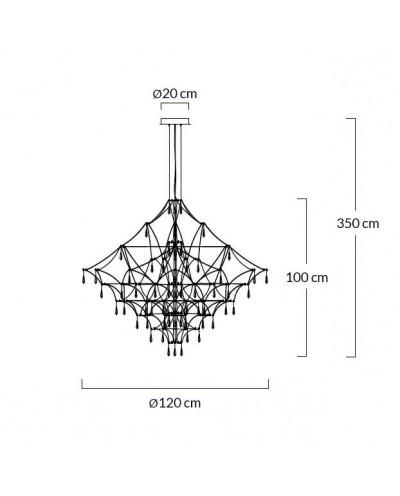 Lampa wisząca CONSTELATION 120 GOLD - LED, stal szczotkowana
