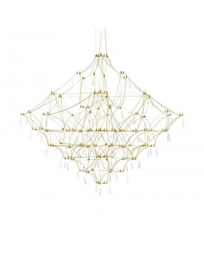 Lampa wisząca CONSTELATION 100 GOLD - LED, stal szczotkowana