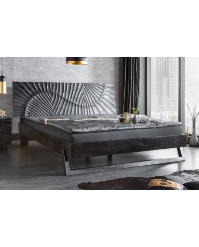 INVICTA łóżko SCORPION 180x220 czarne - mango, lite drewno