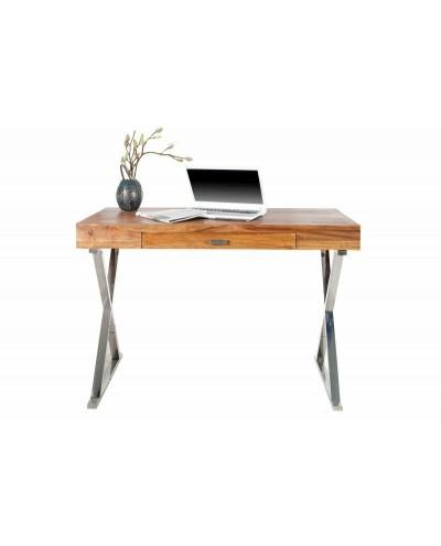 INVICTA biurko ELEMENTS 120 cm Sheesham - lite drewno, metal