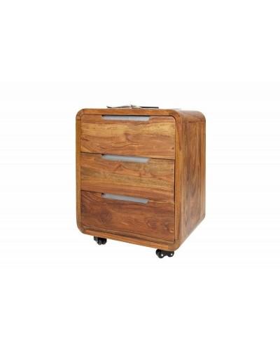 INVICTA szafka kółkach GOA 60 - sheesham, drewno naturalne