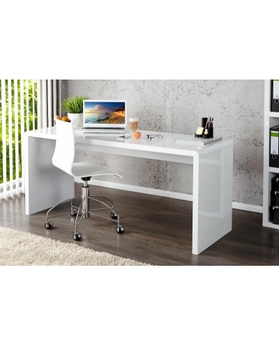 INVICTA biurko FAST TRADE 140 cm białe - płyta MDF
