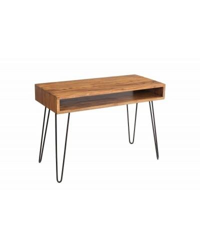 INVICTA biurko SCORPION 110 cm shessham - drewno, metal