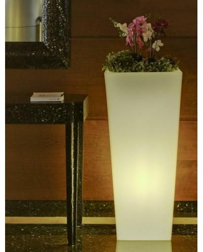 NEW GARDEN donica MELISA 50 C biała - LED