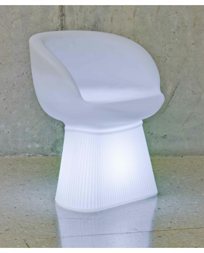 NEW GARDEN fotel MALLORCA SOLAR biały - LED, sterowanie pilotem