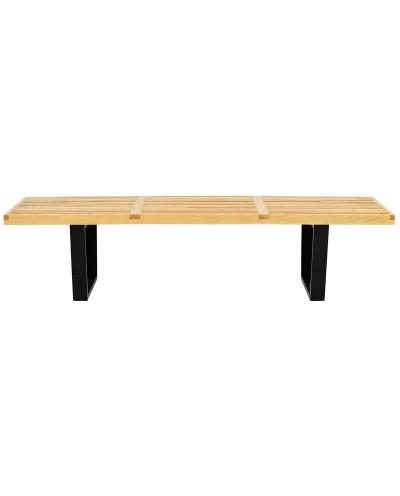 Ławka FRANK - drewno jesionowe, metal