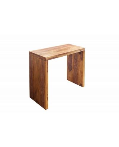INVICTA biurko MAKASSAR 100 cm Sheesham - drewno naturalne