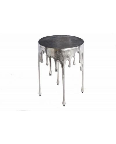 INVICTA stolik kawowy LIQUID LINE 51 srebrny - metal