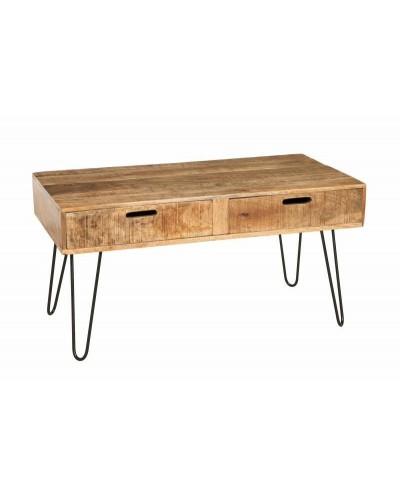 INVICTA stolik kawowy SCORPION 100 cm - mango, drewno, żelazo
