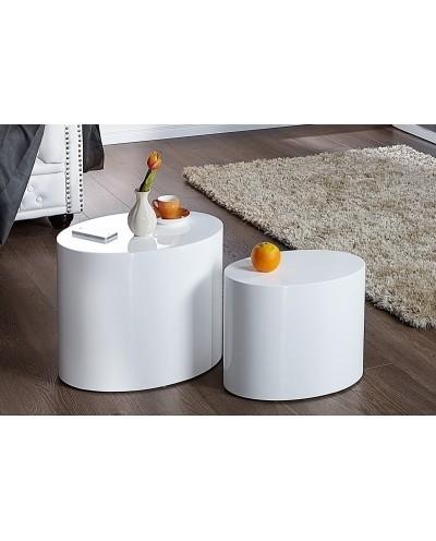 INVICTA zestaw stolików DIVISION białe - MDF