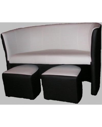 Magic - Sofa 2-oso. z pufami