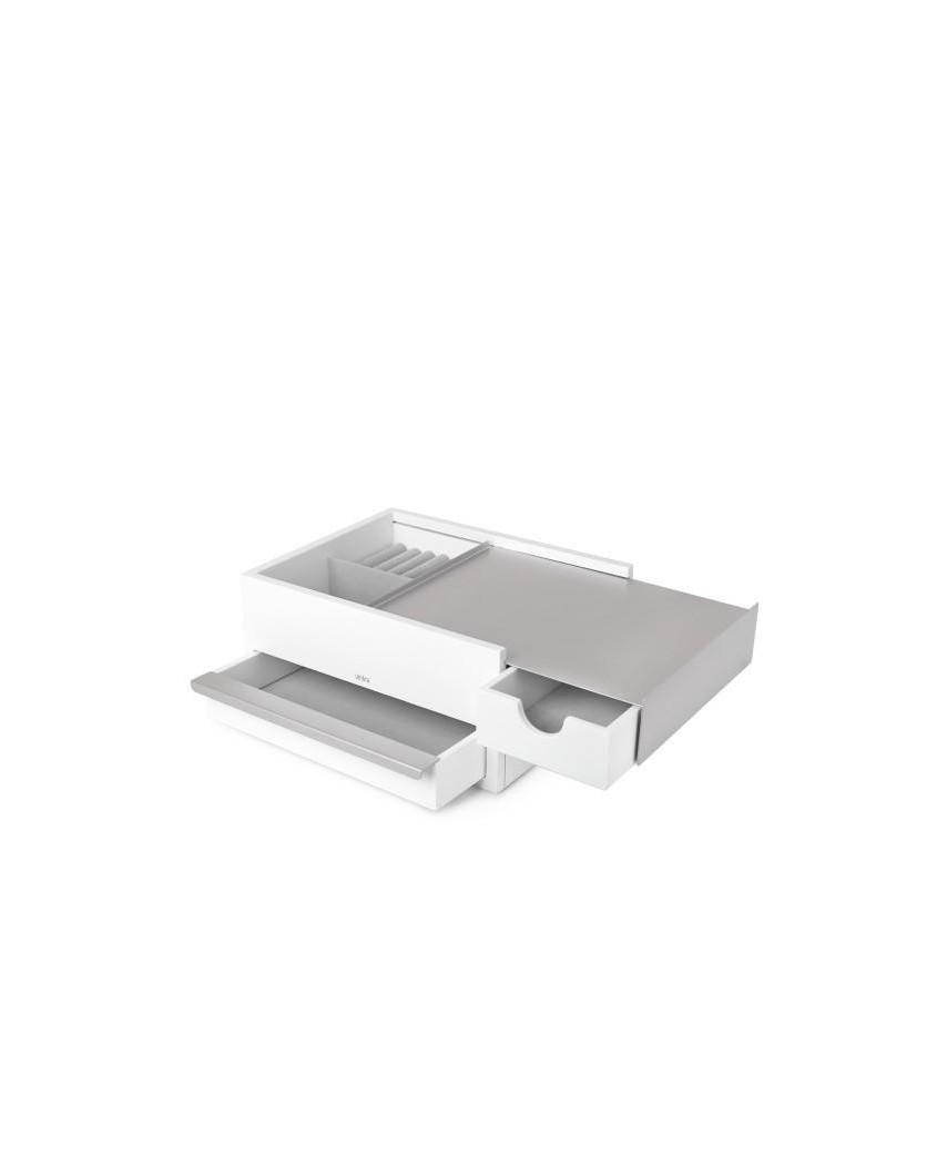 UMBRA pojemnik na biżuterię STOWIT - biały,nikiel