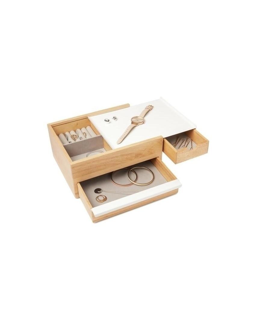 UMBRA pojemnik na biżuterię STOWIT -biały,natural