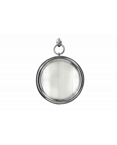 INVICTA lustro wiszące PORTRET 30cm srebrne - metal, szkło