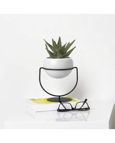 UMBRA doniczka wisząca BOLO czarna - metal, ceramika