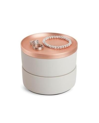 UMBRA pojemnik na biżuterię TESORA -miedź
