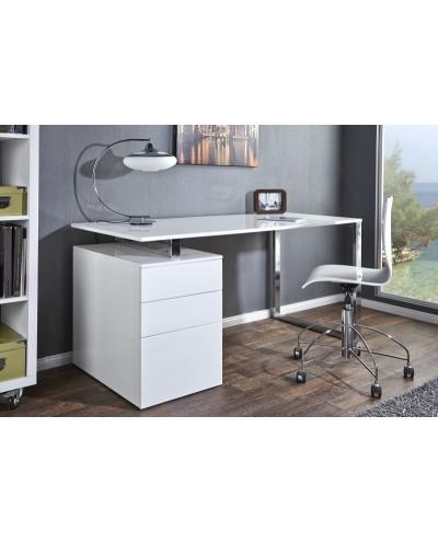 INVICTA biurko COMPACT białe - MDF, chrom