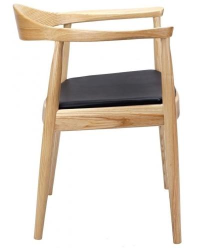 Krzesło KENNEDY naturalne - drewno jesion, ekoskóra