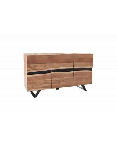 INVICTA komoda AMAZONAS 150 cm akacja - lite drewno, metal