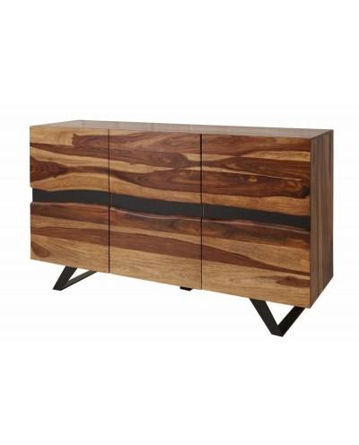 INVICTA komoda AMAZONAS 150 cm Sheesham - lite drewno, metal