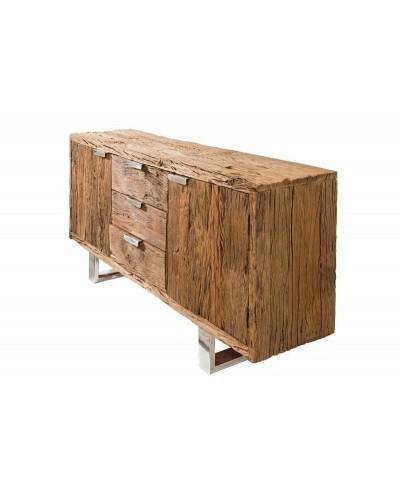 INVICTA komoda EUPHORIA BARRACUDA - 160 cm, drewno naturalne, stal nierdzewna