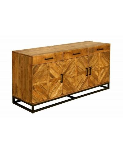 INVICTA komoda INFINITY HOME 160 cm - Mango, drewno naturalne, metal